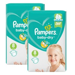 Pampers - Pack 40 Couches Baby Dry taille 8 sur Couches Center