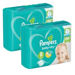 Pampers - Mega pack 100 Couches Baby Dry taille 8 sur Couches Center