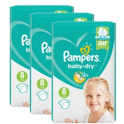 Pampers - Mega pack 120 Couches Baby Dry taille 8 sur Couches Center