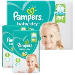 Pampers - Giga pack 200 Couches Baby Dry taille 8 sur Couches Center