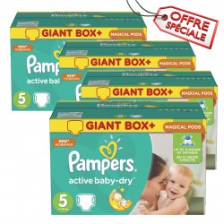 Pampers - 110 Couches Active Baby Dry taille 5 sur Couches Center