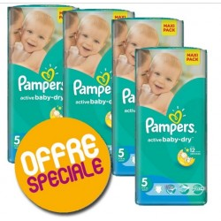 Pampers - 220 Couches Active Baby Dry taille 5 sur Couches Center