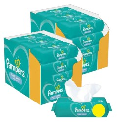 Pampers - Maxi giga pack 312 Lingettes Bébés Fresh Clean sur Couches Center