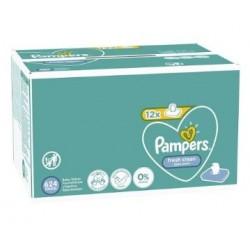 Pampers - Maxi mega pack 416 Lingettes Bébés Fresh Clean sur Couches Center