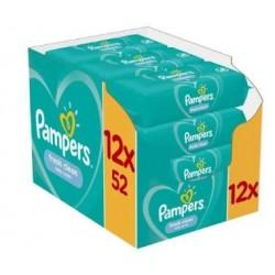 Pampers - Pack jumeaux 520 Lingettes Bébés Fresh Clean sur Couches Center