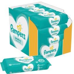 Pampers - Pack jumeaux 936 Lingettes Bébés Sensitive sur Couches Center