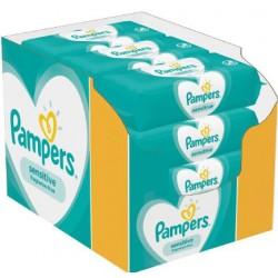 Pampers - Pack jumeaux 1144 Lingettes Bébés Sensitive sur Couches Center