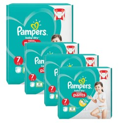 Pampers - Pack 63 Couches Baby Dry Pants taille 7 sur Couches Center