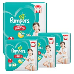 Pampers - Mega pack 126 Couches Baby Dry Pants taille 7 sur Couches Center