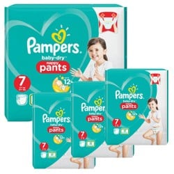 Pampers - Mega pack 147 Couches Baby Dry Pants taille 7 sur Couches Center