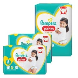 Pampers - Mega pack 120 Couches Premium Protection Pants taille 5 sur Couches Center
