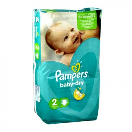 72 couches pampers baby dry taille 2 moins cher sur couches center - Promo couche pampers carrefour ...
