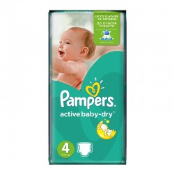 Pampers - Pack 70 Couches Active Baby Dry taille 4 sur Couches Center