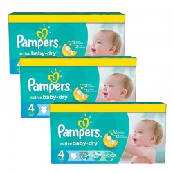 Pampers - Mega pack 140 Couches Active Baby Dry taille 4 sur Couches Center