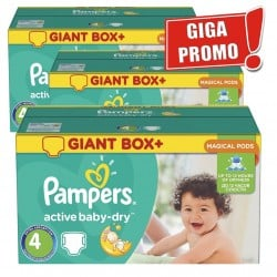 Pampers - Giga pack 280 Couches Active Baby Dry taille 4 sur Couches Center
