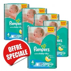 Pampers - Maxi mega pack 420 Couches Active Baby Dry taille 4 sur Couches Center