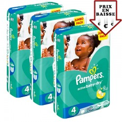 Pampers - Pack jumeaux 560 Couches Active Baby Dry taille 4 sur Couches Center