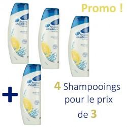 Head & Shoulders - 4 Shampooings Antipelliculaire Citrus Fresh - 4 au prix de 3 sur Couches Center