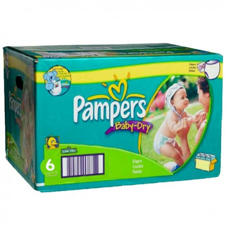 198 couches pampers baby dry taille 6 pas cher sur couches - Achat couches pampers en gros pas cher ...