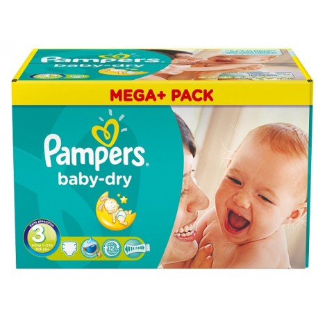 Pampers - 180 Couches Baby Dry taille 3 sur Couches Center