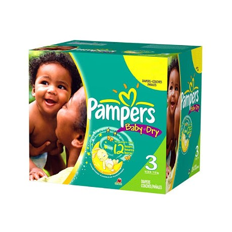 Pampers - 540 Couches Baby Dry taille 3 sur Couches Center
