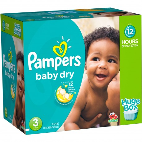Pampers - 720 Couches Baby Dry taille 3 sur Couches Center