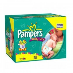 Pampers - 252 Couches Baby Dry taille 2 sur Couches Center