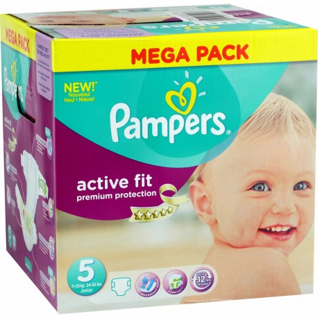 164 Couches Pampers Active Fit Taille 5 En Solde Sur Couches Center
