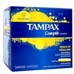 Tampax - 80 Tampons Compak taille regular avec applicateur sur Couches Center