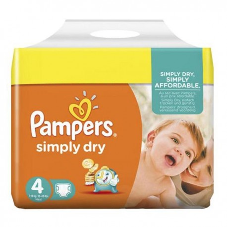 46 couches pampers simply dry taille 4 moins cher sur - Couches pampers 4 pas cher ...