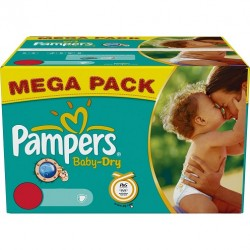 Pampers - 300 Couches Baby Dry taille 3 sur Couches Center