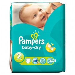 Pampers - 42 Couches Baby Dry taille 2 sur Couches Center