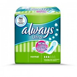 Always - 18 Serviettes hygiéniques Ultra taille Normal sur Couches Center
