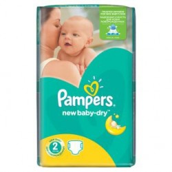 Pampers - 68 Couches New Baby Dry taille 2 sur Couches Center