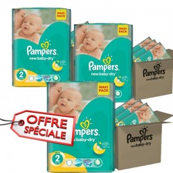 Pampers - 952 Couches New Baby Dry taille 2 sur Couches Center