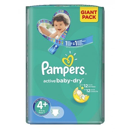 32 couches pampers active baby dry taille 4 en promotion sur couches center - Couche pampers baby dry taille 4 ...