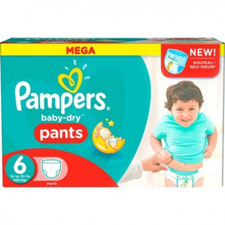 190 couches pampers baby dry pants taille 6 pas cher sur couches center - Promo couche pampers carrefour ...