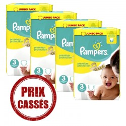 Pampers - 232 Couches Premium Protection 3 sur Couches Center