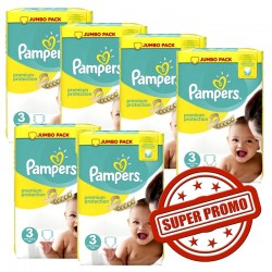 Pampers - 435 Couches Premium Protection 3 sur Couches Center