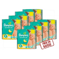 Pampers - Pack économique New Baby Dry 2 sur Couches Center