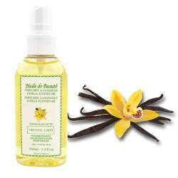 Huile de beauté à la vanille 100% pure et végétale sur Couches Center