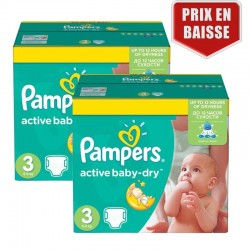 Pampers - 410 Couches Active Baby Dry taille 3 sur Couches Center