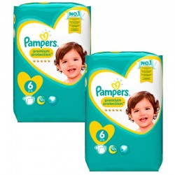 Pampers - Giga Pack 240 Couches New Baby Premium Protection taille 6 sur Couches Center