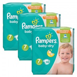 Pampers - Pack 84 Couches Baby Dry taille 7 sur Couches Center