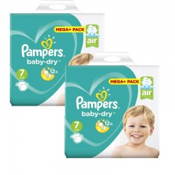 Pampers - Mega Pack 112 Couches Baby Dry taille 7 sur Couches Center
