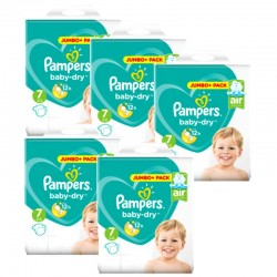 Pampers - Maxi Mega Pack 168 Couches Baby Dry taille 7 sur Couches Center