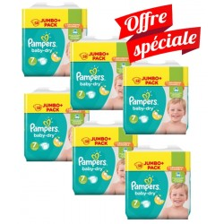 Pampers - Maxi Mega Pack 224 Couches Baby Dry taille 7 sur Couches Center
