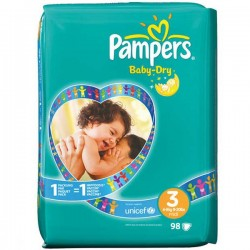 Pampers - Pack 34 Couches Baby Dry taille 3 sur Couches Center