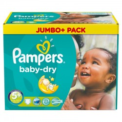 Pampers - Maxi Pack 252 Couches Baby Dry taille 5+ sur Couches Center