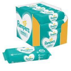 Pampers - Pack 56 Lingettes Bébés Sensitive Baby - 3 Packs de 56 sur Couches Center